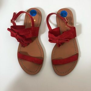 kate spade Carlita tassel sandals red 6.5